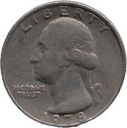 монета 1978,  QUARTER DOLLAR;  UNITED STATES OF AMERICA LIBERTY;  INCODWE